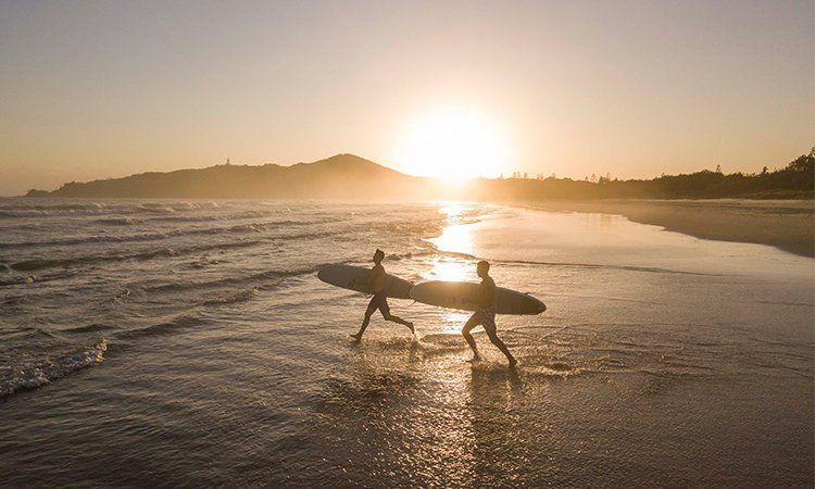 Sunrise Surfing at Byron Bay YHA