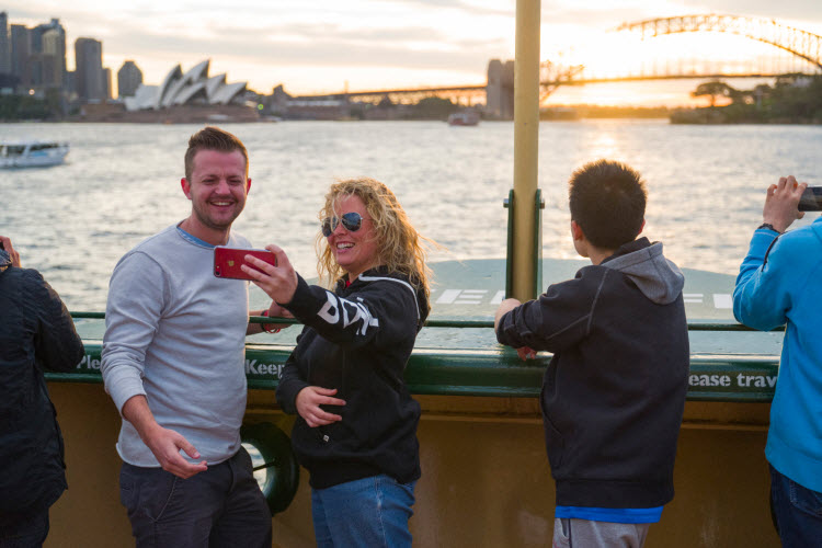 14. Harbour Bridge Sunset Selfie from Manly Ferry 2017