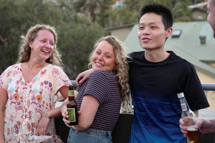 8. Sydney Beachouse YHA Balcony Cheers Beers 2017