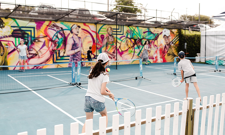 Brisbane Family Tennis Image: Tourism and Events Queensland