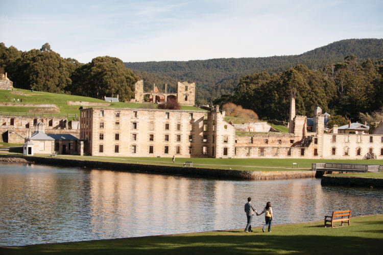 16. Couple walking at lake_Port Arthur Historic Site Management Authority