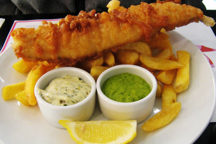 8. Fish and Chips credit Wikimedia commons