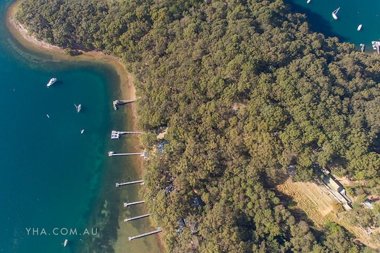 Aerial Shot Pittwater YHA Hostel