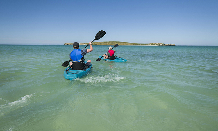 Kayaking in Lancelin