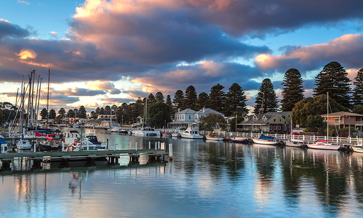 Port Fairy waterfront is a short walk from Port Fairy YHA
