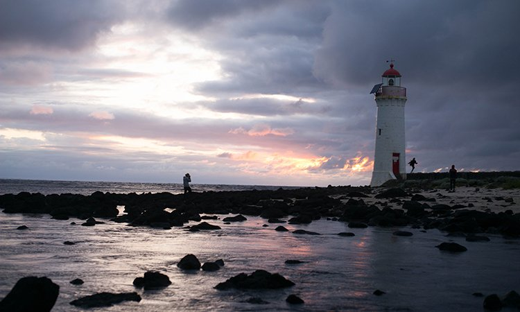 Griffiths Island Lighthouse near Port Fairy YHA