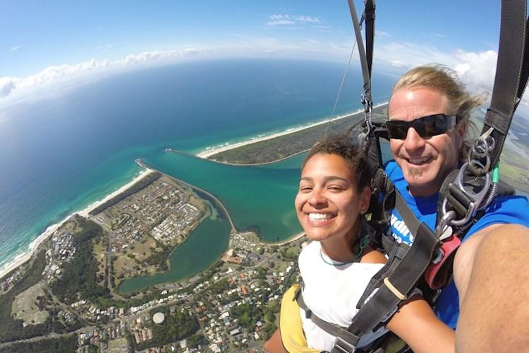 Skydive Byron Bay- Selfie in the Sky