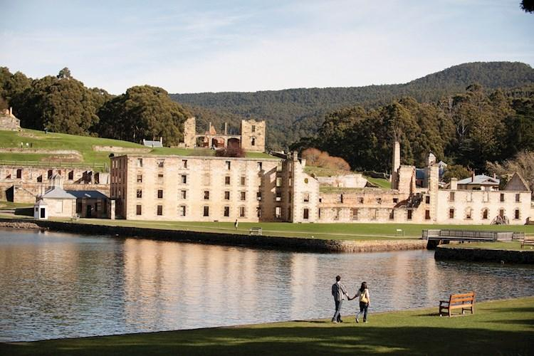 Couple walking at lake_Port Arthur Historic Site Management Authority.jpg
