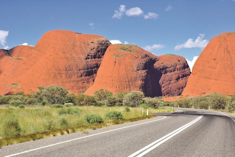 Uluru Day Tour From Alice Springs- The road to Kata Tjuta