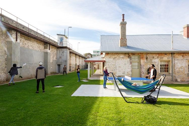 Exercise Yard - Fremantle Prison YHA