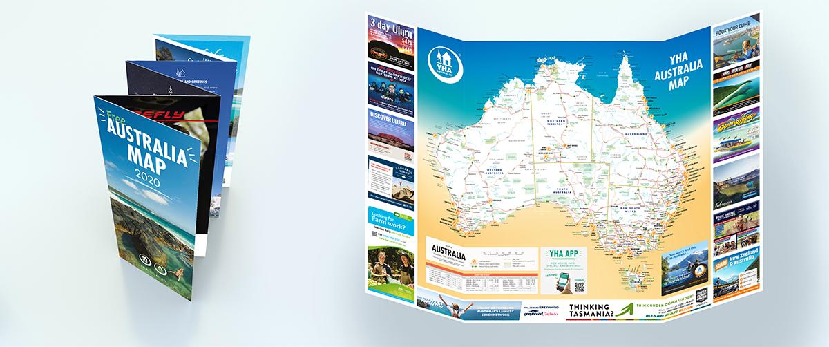 Free Australian Map & Hostel Guide English Version | YHA ...