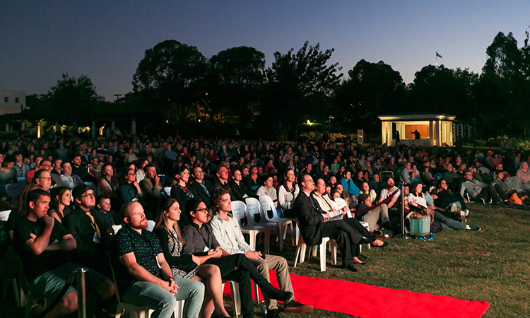 Canberra Outdoor Film Festival Credit Developing Agents for VisitCanberra