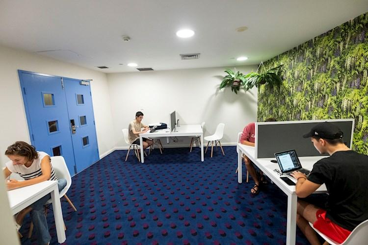 Co-working space desks