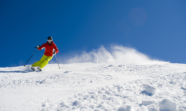 Skiing at Thredbo:  Credit Steve Cuff and Destination NSW