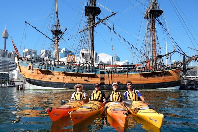 Kayak Sydney Harbour- Replica historical boat